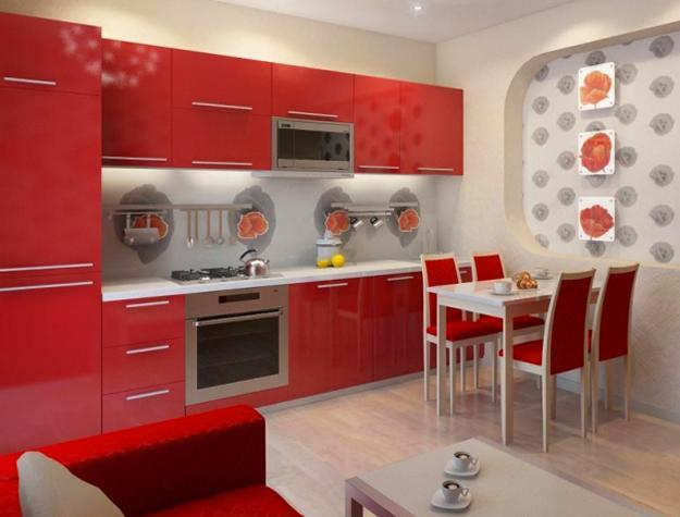 25 stunning red kitchen design and decorating ideas. Black Bedroom Furniture Sets. Home Design Ideas