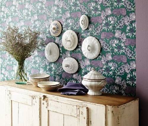ideas to reuse and recycle vintage lids for modern wall decoration