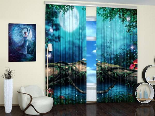 Digital Printing And Colorful Photo Curtains Bringing