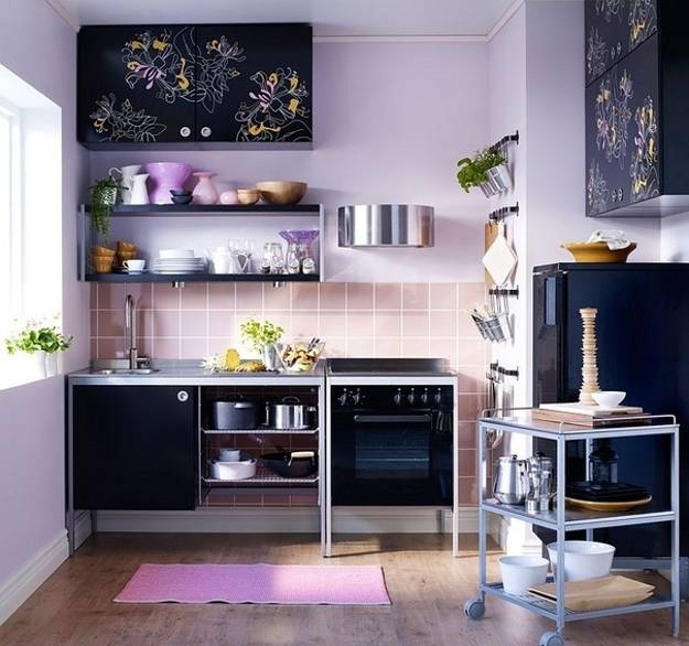 modern kitchen design, space saving ideas and kitchen colors for small spaces
