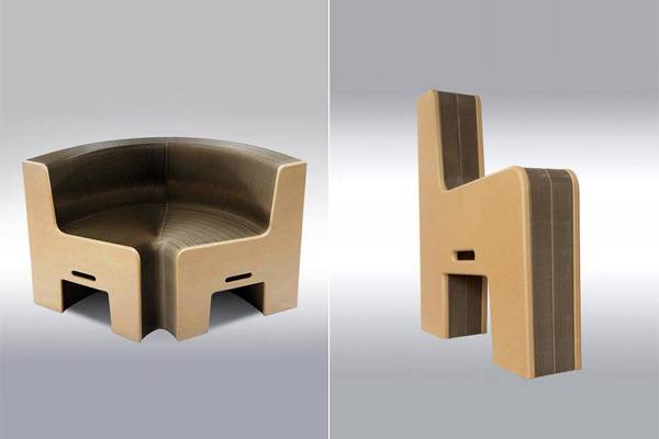 Space Saving Furniture Design Idea, Cardboard Sofa Earth8
