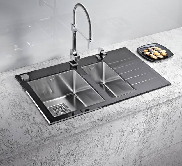 Stainless Steel Kitchen Sinks And Modern Faucets Functional