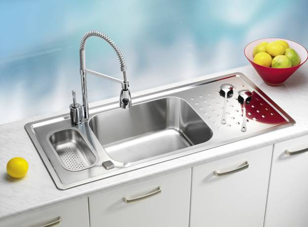 Stainless Steel Kitchen Sinks And Modern Faucets Functional Kitchen