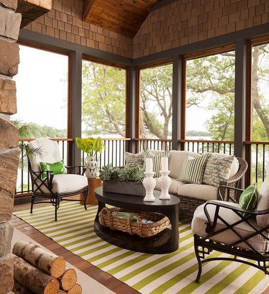 Outdoor Home Decor With Striped Rugs, 12 Beautiful Outdoor