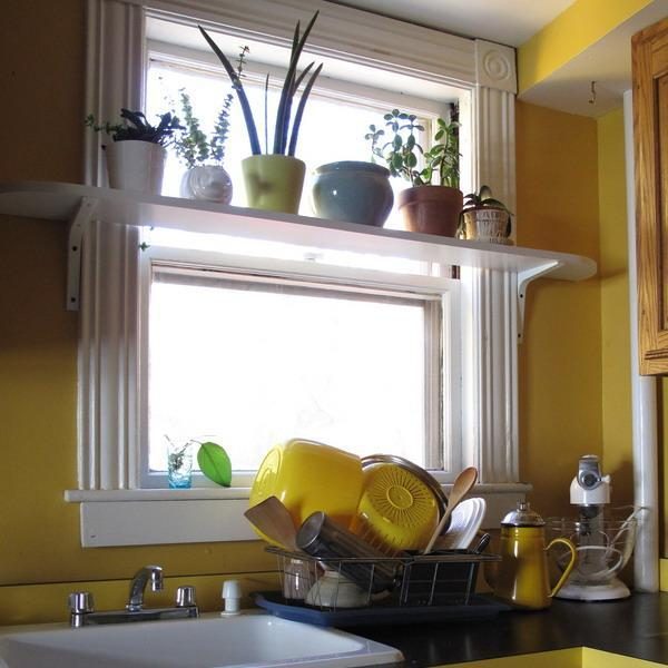 Open Kitchen Shelves Decorating Ideas: 25 Creative Window Decorating Ideas With Open Shelves