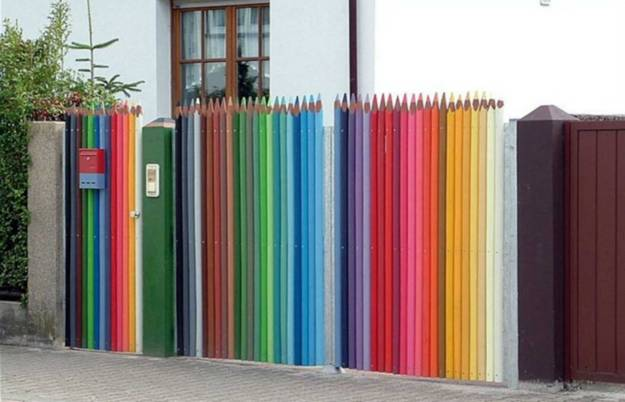 Colorful Painting Ideas for Fences Adding Bright ...