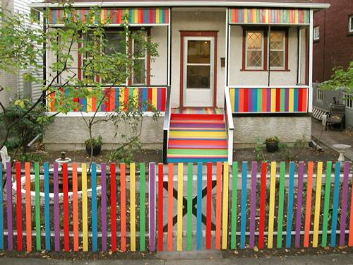 Colorful Painted Outdoor Furniture