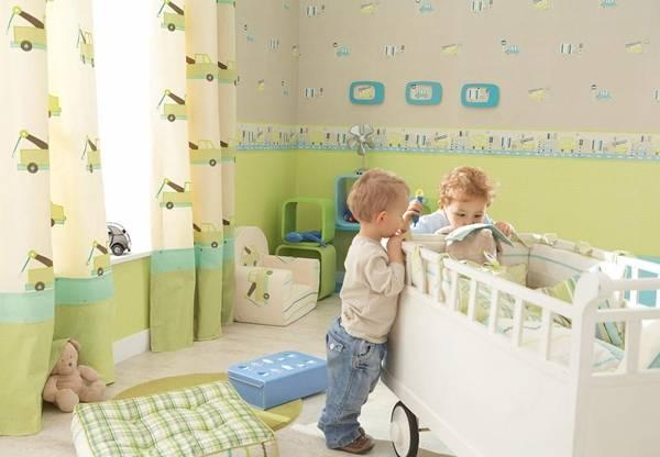 Baby Room Decor Ideas Modern Wallpaper For Kids In Light Colors