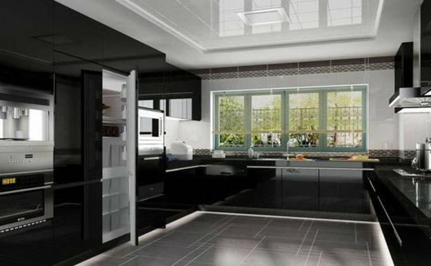 225 Modern Kitchens And 25 Contemporary Kitchen Designs In Black White With Accent Color