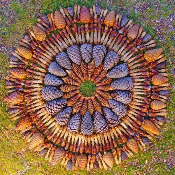 yard art and decorations made with natural materials