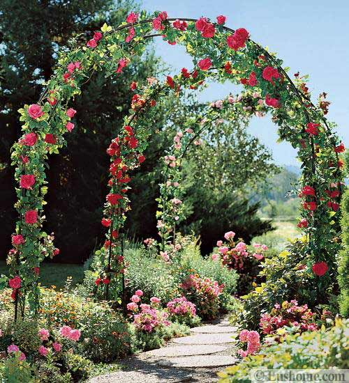 Spring Flowers And Yard Landscaping Ideas 20 Tulip Bed: 20 Metal Arches And Beautiful Yard Landscaping Ideas