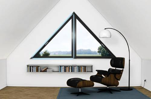 25 triangular window designs customizing modern house - Bedroom layout ideas for rectangular rooms ...