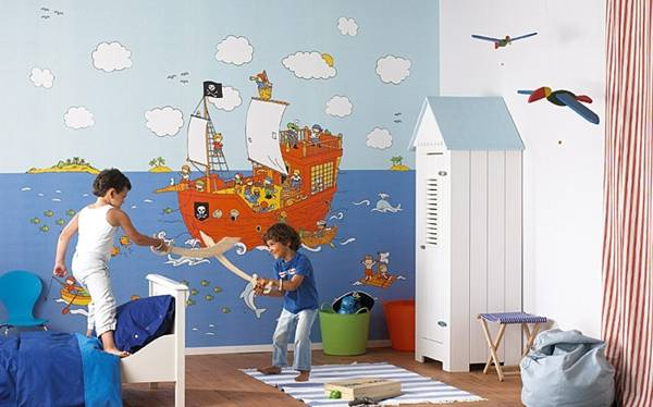 22 Colorful Kids Rooms, Modern Wallpaper for Kids Room