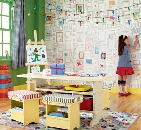 Colorful Kids Room Design: 22 Colorful Kids Rooms, Modern Wallpaper For Kids Room