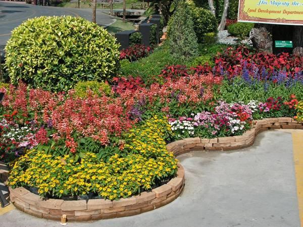 Flower bed shape ideas for Flower bed shapes designs
