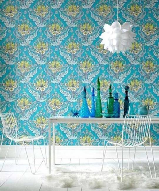 Super Modern Room Decorating Ideas With Retro Wallpapers