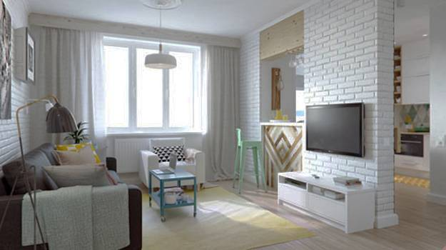 Small Apartment Ideas Spruced Up With Bright Decoration Patterns And
