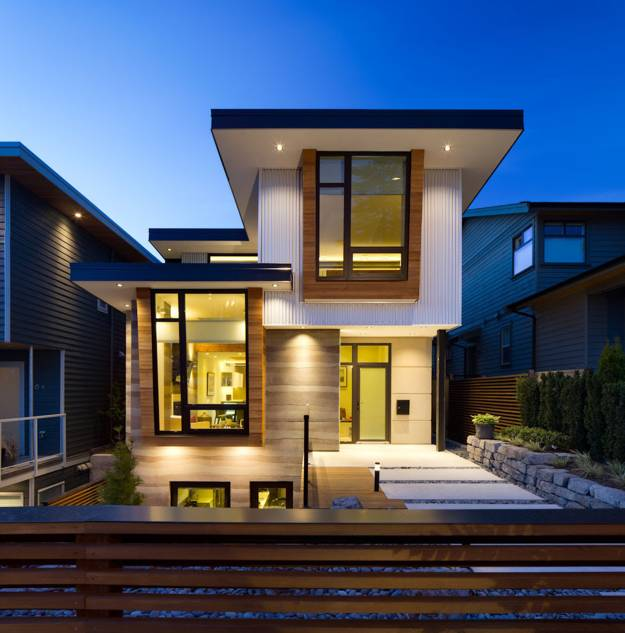 Modern Home Ideas Exterior Design: Ultra Green Modern House Design With Japanese Vibe In