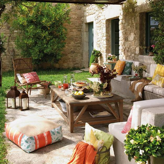 Colorful Outdoor Deck Decorating Ideas: Bringing Bright Color Accents Into Outdoor Rooms, Before
