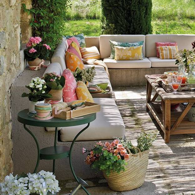 Bringing Bright Color Accents Into Outdoor Rooms, Before And After Patio  Ideas