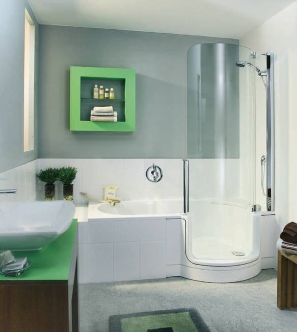 modern bathtubs, showers and combinations