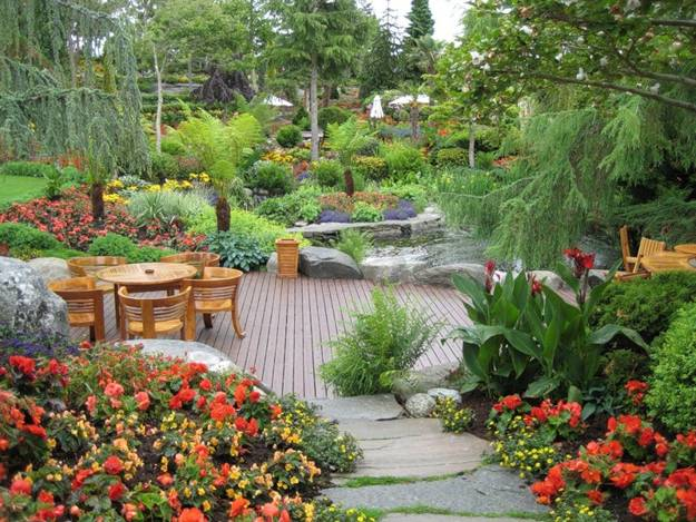 Increasing Living Spaces With Outdoor Seating Areas Decorated With Beautiful Flowers
