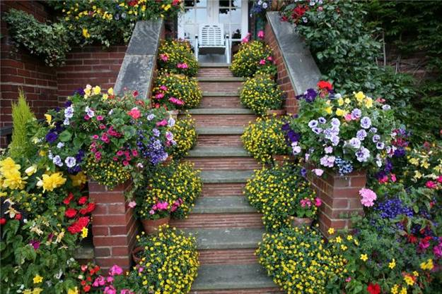 backyard ideas and garden design, outdoor home decorating with summer flowers