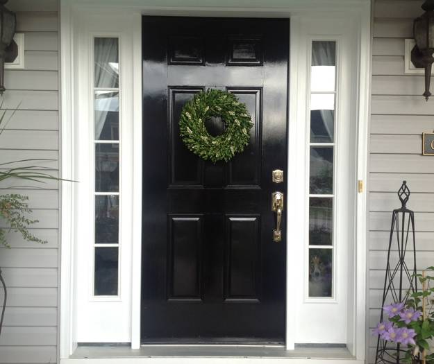 Black Paint And Decorating Ideas For Exterior Doors