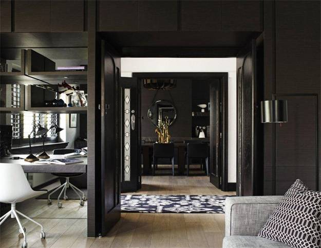 Beau Black Paint And Decorating Ideas For Interior Doors