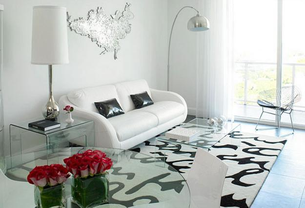 20 black and white living room designs bringing elegant - Black accessories for living room ...