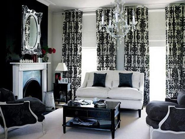 20 black and white living room designs bringing elegant chic into modern homes for Modern living room black and white