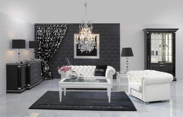 20 Black and White Living Room Designs Bringing Elegant Chic ...