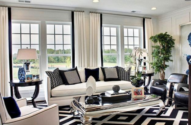 20 Black And White Living Room Designs Bringing Elegant Chic Into