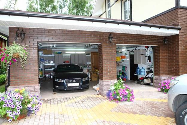 two car garage and storage ideas