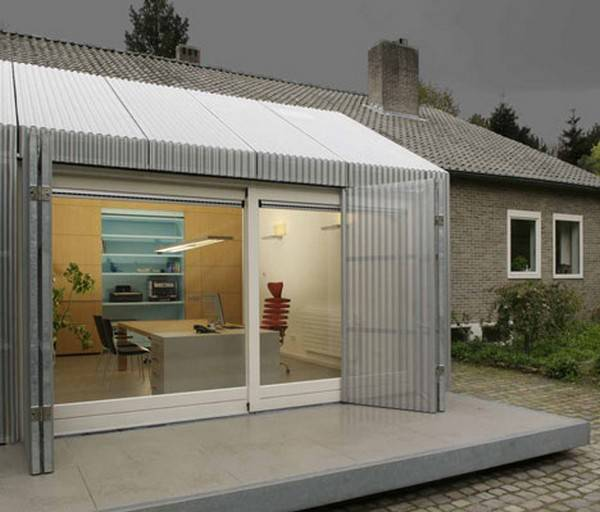 Bright Garage Redesign Idea Creating Modern Home Office