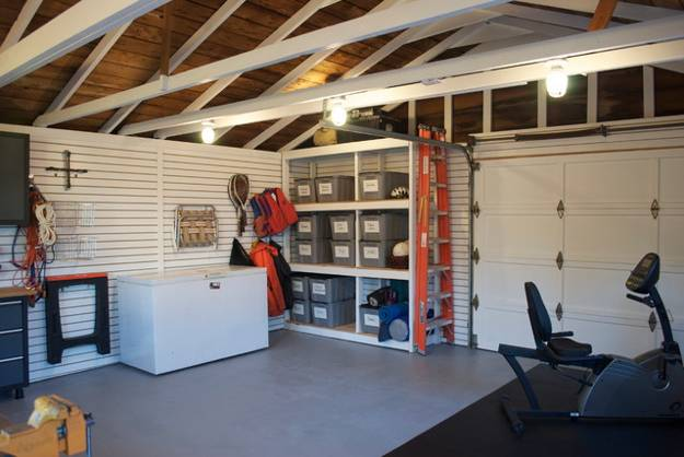 garage makeover and interior redesign, storage solutions
