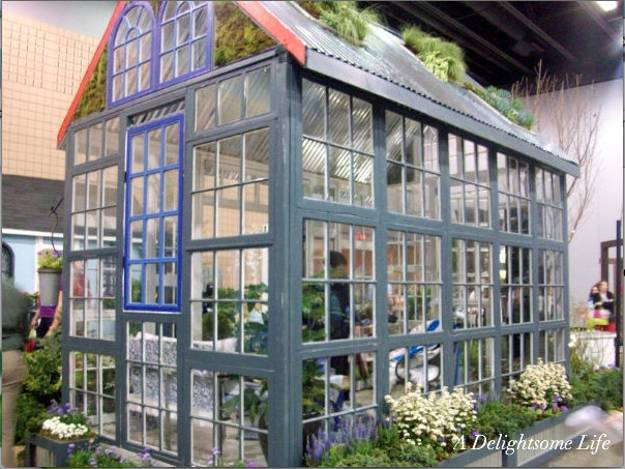Glass Recycling For Greenhouse Designs, Garden Houses