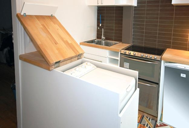 Built In Cabinet For Washer, Space Saving Kitchen Bar Table