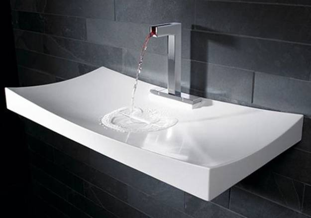 Incroyable Porcelain Bathroom Sink In Rectangular Shape
