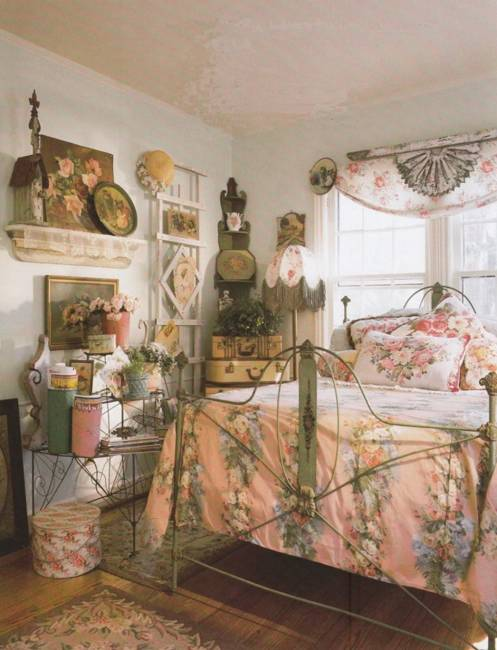 modern home furnishings and room decorating in vintage style