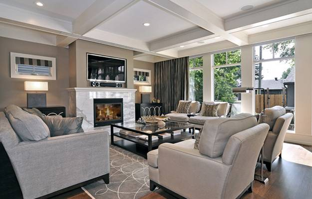 Living Room Tv Decorating Design Furniture Placement Around Fireplace And