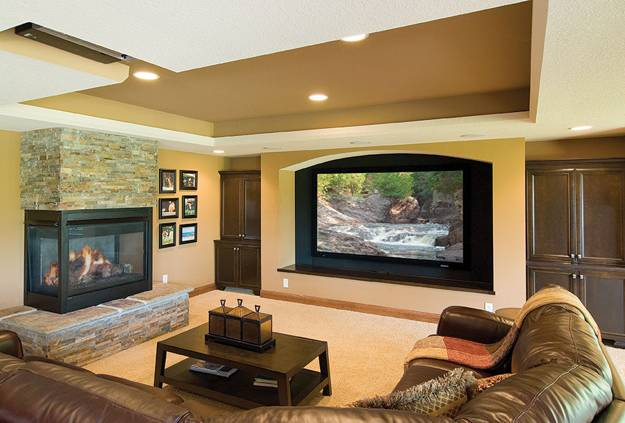 multifunctional and modern living room designs with tv and fireplace