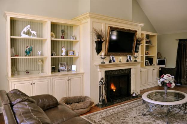 30 Multifunctional And Modern Living Room Designs With Tv And Fireplace Holy Martyr Com