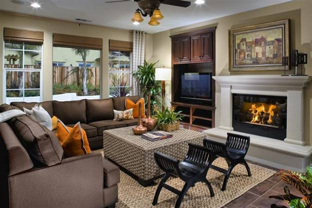 Living Room Tv Decorating Design Creative Fireplace Mantel With The TV E