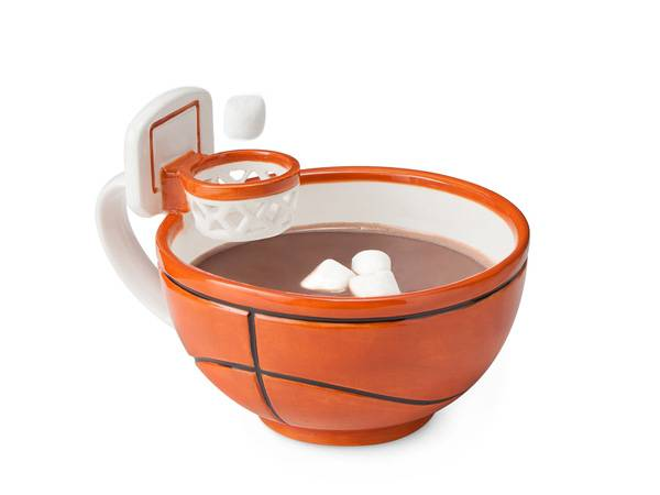 basketball mug in orange color