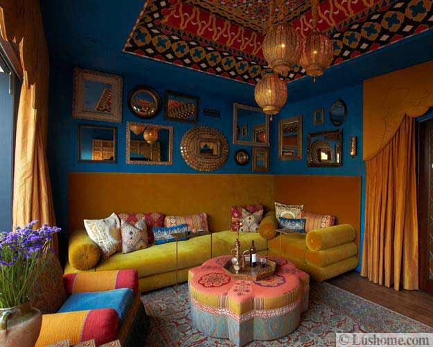 Lushome & 20 Moroccan Decor Ideas for Exotic and Glamorous Outdoor Rooms