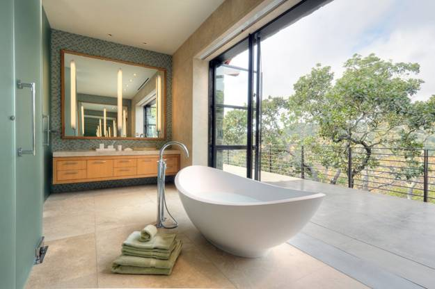 Modern Bathroom Design Trends, Glass Wall Design Ideas And Glass Doors