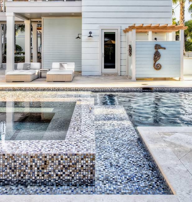 Outdoor Swimming Pool And Spa Design Idea