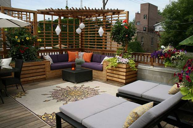 Modern Patio Ideas Accents In Moroccan And Asian Styles Design By C Mariedesigns