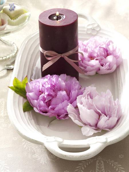15 Floral Candles Centerpieces With Peony Flowers
